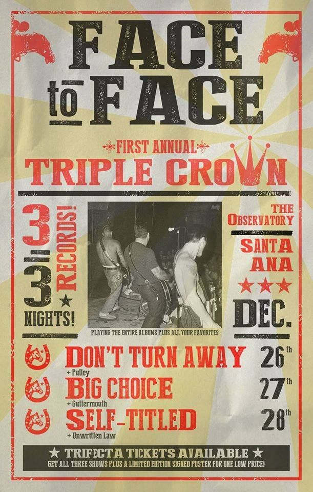 Face To Face Triple Crown Flyer